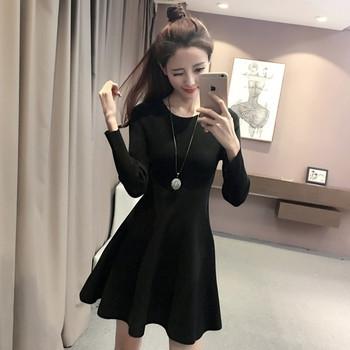 17e7fce82f21 Ανοιξιάτικο γυναικείο φόρεμα σε μαύρο και κόκκινο χρώμα - Badu.gr Ο ...