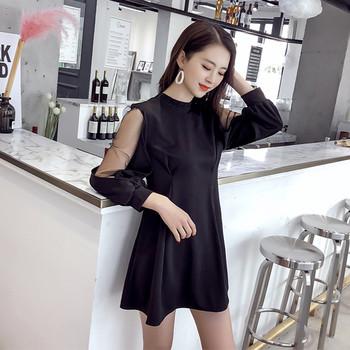 f846f277da2d Μοντέρνο γυναικείο φόρεμα με διαφανή