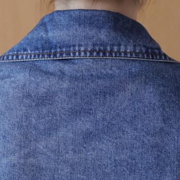 Άνοιξη - φθινόπωρο γυναικείο μπουφάν, μακρύ μοτίβο