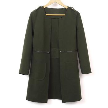 Κομψό γυναικείο μακρύ / κοντό μπουφάν , κατάλληλη για το φθινόπωρο και την άνοιξη