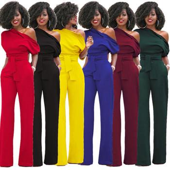 Елегантен дамски дълъг гащеризон slim в много и различни цветове