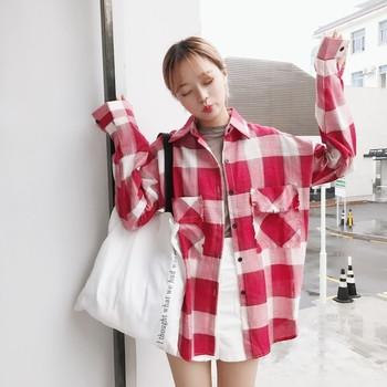 Небрежна дамска риза широк модел с дълбоки джобове в два цвята