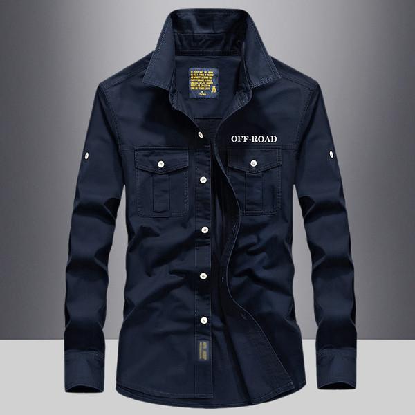 Ανοιξιάτικο ανδρικό βαμβακερό πουκάμισο με διακοσμητικές τσέπες σε διάφορα  χρώματα - Badu.gr Ο κόσμος στα χέρια σου db217a92462