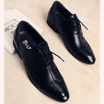 Елегантни мъжки обувки с връзки - имитиращи каубойски