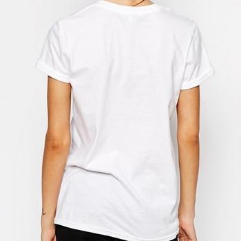 Памучна дамска тениска с О-образна яка и надпис - 3 модела