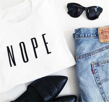 Дамска ежедневна блуза с надпис и О-образна яка