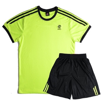 Мъжки летен спортен екип от две части-тениска-къси шорти с мини щампа в няколко цвята
