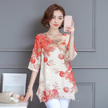 Дамска риза в два свежи дизайна с флорални мотиви