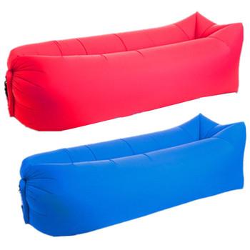 Надуваем пуф в няколко цвята - подходящ за излети, къмпинги и плаж