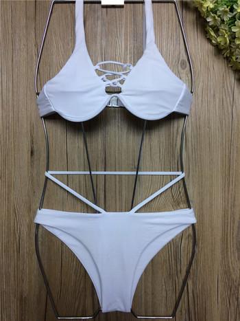 Нов бански костюм от две части с тънки кръстосани връзки, в няколко цвята