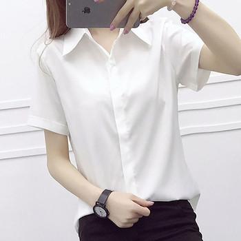 Дамска риза в няколко цвята с къс ръкав подходяща за ежедневие