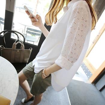 Дамска риза широк модел с бродерия на ръкавите