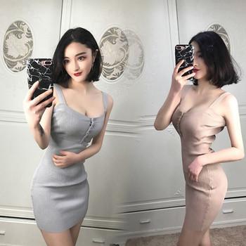 Спортно - ежедневна дамска рокля в три цвята