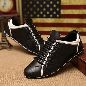 Μη τυπικά ανδρικά πάνινα παπούτσια με ενδιαφέροντες δεσμούς, δύο μοντέλα σε διάφορα χρώματα