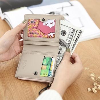Γυναικείο πορτοφόλι με φερμουάρ και 3D διακόσμηση