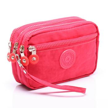 Γυναικείο μεγάλο πορτοφόλι με  εξωτερική τσέπη