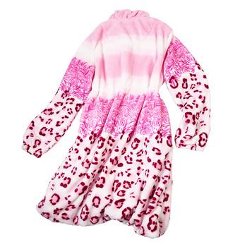 Топъл дамски халат с преливащи цветове