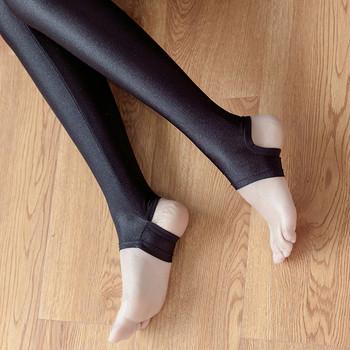 Еластичен дамски клин в черен цвят в два модела, подходящ за ежедневие