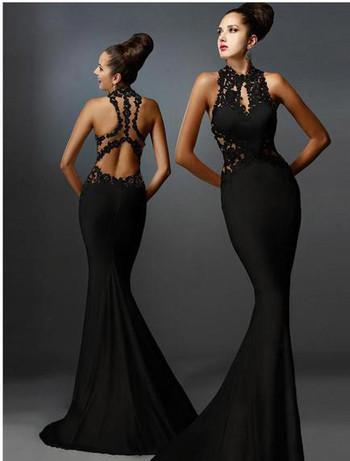 Дамска елегантна рокля с отворен гръб в три цвята