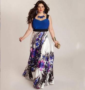 Дамска лятна рокля с презрамки и висока талия с флорален десен