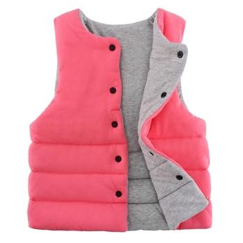 Παιδικό γιλέκο σε δύο πρώσοπα σε διάφορα χρώματα κατάλληλο για κορίτσια και  αγόρια με κουμπιά 361e0f20554