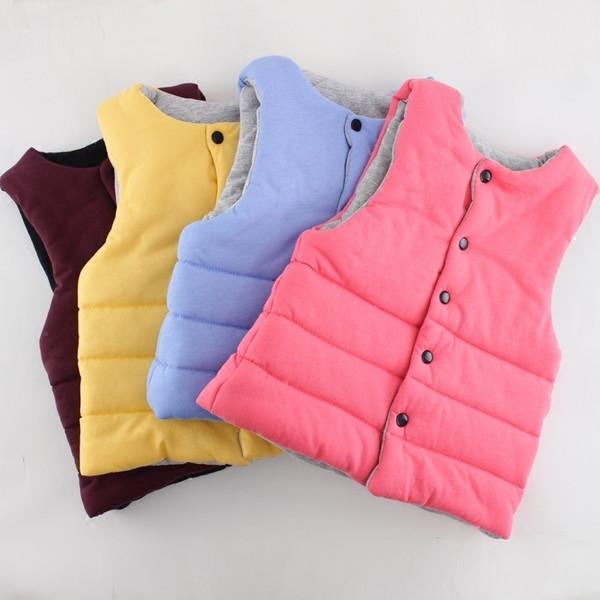 Παιδικό γιλέκο σε δύο πρώσοπα σε διάφορα χρώματα κατάλληλο για κορίτσια και  αγόρια με κουμπιά - Badu.gr Ο κόσμος στα χέρια σου 1a24b90ade6