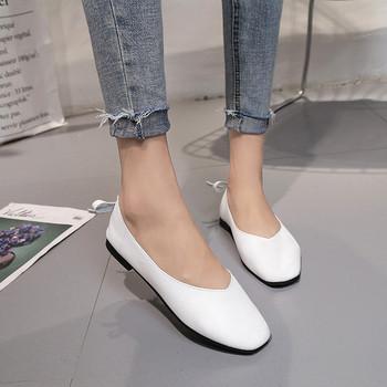 Семпли и практични дамски обувки с декорация мини панделка в няколко цвята