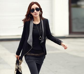 Дамско ежедневно тънко яке с цип в два цвята
