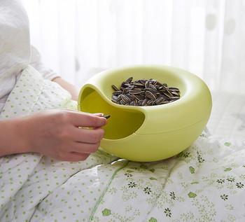 Супер удобна и практична купа за ядки с разделение за отпадъци
