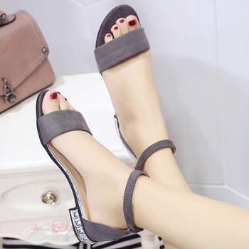 Ежедневни дамски сандали велурени  в няколко цвята