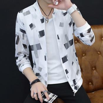 Лятно тънко мъжко яке в няколко модела с различни щампи