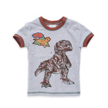 Детска тениска за момчета в светъл цвят с щампа