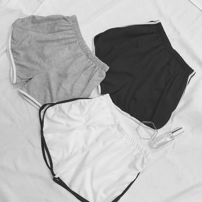 Памучни къси спортни шорти за жени в три цвята