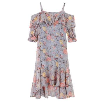 Дамска рокля с флорален мотив в свободен стил