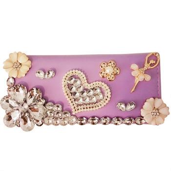 Γυναικείο πορτοφόλι με διακοσμητικές πέτρες σε διάφορα χρώματα