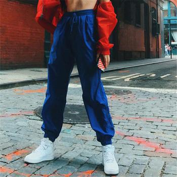 Дамски небрежен спортен панталон широк модел