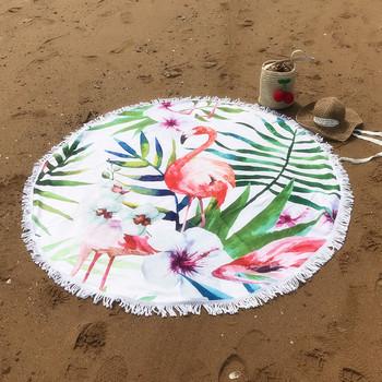 Кръгла плажна кърпа с ресни в няколко модела