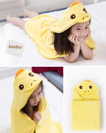 Детска хавлиена кърпа/халат с качулка в няколко модела