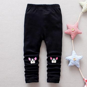 393ae5b7491 Παιδικό κολάν για κορίτσια με εφαρμογή σε λευκό, ροζ και μαύρο χρώμα ...