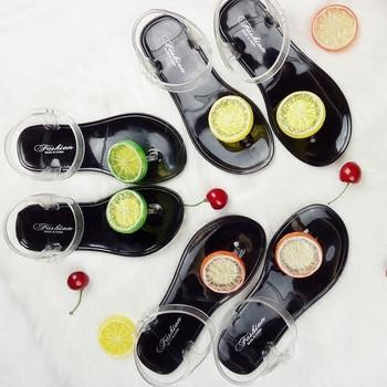 Дамски сандали гумени с интересна 3D декорация