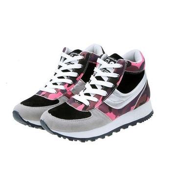 Дамски маратонки в три цвята с висока подметка