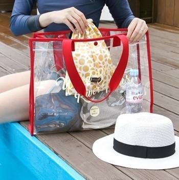 Плажна чанта прозрачна в няколко цвята