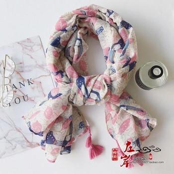 Дамски памучни шалове за лятото в 11 различни шарки