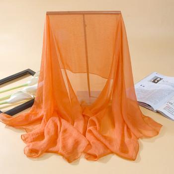 Изчистен дамски тънък шал за лятото в няколко цвята