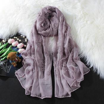 Тънък дамски шал за лятото в два цвята