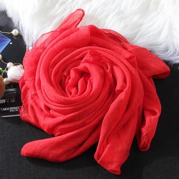 Едноцветни дамски шалове за лятото от шифон в няколко цвята