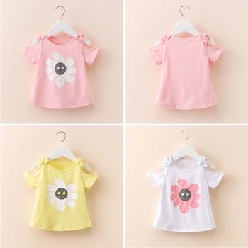 Детска тениска за момичета с апликация