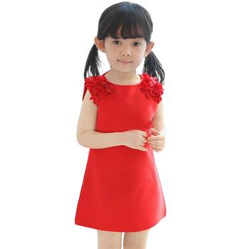Детска рокля за момичета с флорален мотив в няколко цвята