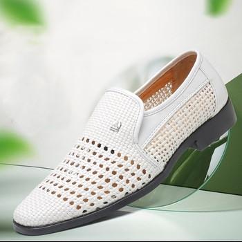 1dc92b69002 Ανδρικά παπούτσια καλοκαιρινά σε δύο μοντέλα με μεταλλικά στοιχεία ...