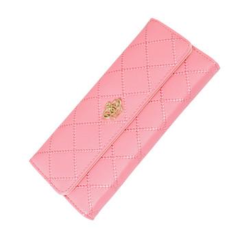 Γυναικείο πορτοφόλι σε διάφορα χρώματα με μεταλλικά στοιχεία